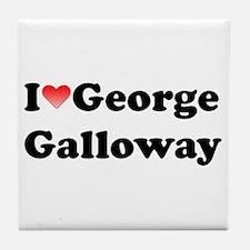 I Love Galloway Tile Coaster