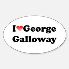 I Love Galloway Oval Decal