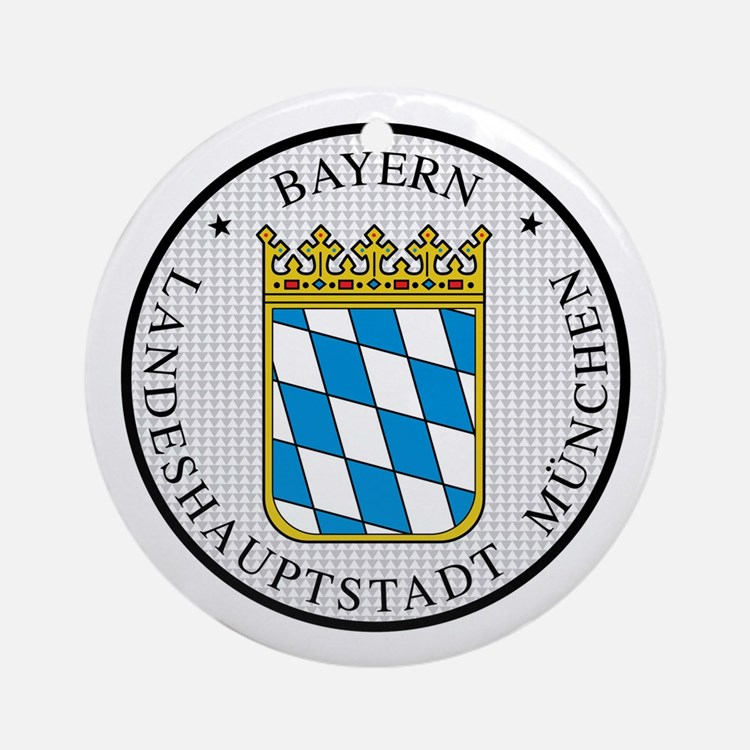 Munich / Munchen Ornament (Round)