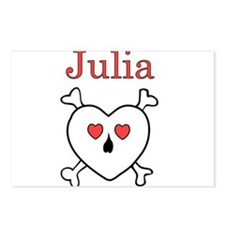 Julia - Love Pirate Postcards (Package of 8)
