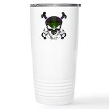 Blair Tartan Skull Travel Coffee Mug