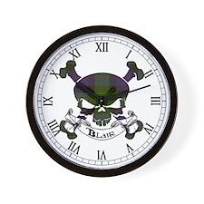 Blair Tartan Skull Wall Clock