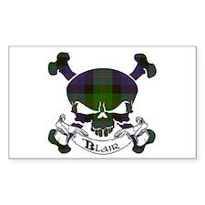 Blair Tartan Skull Decal
