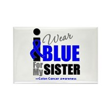 IWearBlue Sister Rectangle Magnet