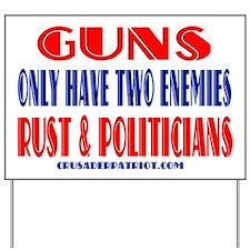 Unique The history of gun control Yard Sign