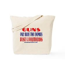 Funny The history of gun control Tote Bag