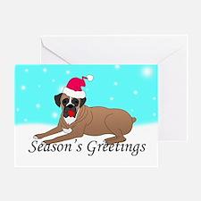 Boxer Dog Santa Greeting Card