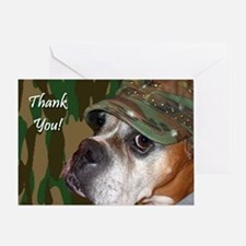 Thank You Military Boxer Greeting Card