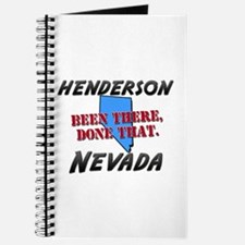henderson nevada - been there, done that Journal