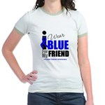IWearBlue Friend Jr. Ringer T-Shirt