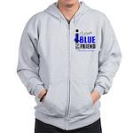 IWearBlue Friend Zip Hoodie
