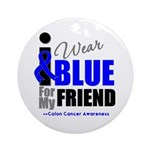 IWearBlue Friend Ornament (Round)