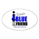 IWearBlue Friend Oval Sticker (10 pk)