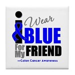 IWearBlue Friend Tile Coaster