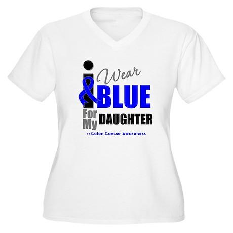 IWearBlue Daughter Women's Plus Size V-Neck T-Shir