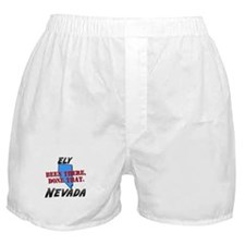 ely nevada - been there, done that Boxer Shorts