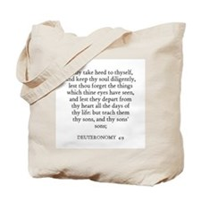 DEUTERONOMY  4:9 Tote Bag