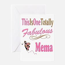 Fabulous Mema Greeting Card