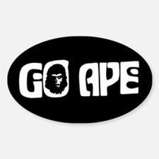 """GO APE"" Oval Decal"