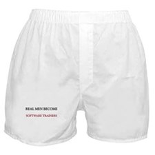 Real Men Become Software Trainers Boxer Shorts