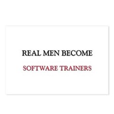 Real Men Become Software Trainers Postcards (Packa