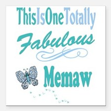 "Fabulous Mema Square Car Magnet 3"" x 3"""