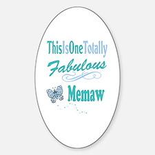 Fabulous Mema Sticker (Oval)