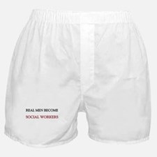 Real Men Become Social Workers Boxer Shorts