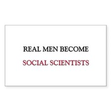 Real Men Become Social Scientists Decal