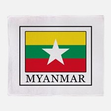Myanmar Throw Blanket