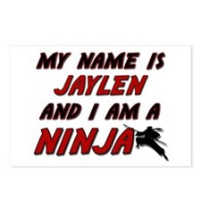 my name is jaylen and i am a ninja Postcards (Pack