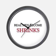 Real Men Become Shrinks Wall Clock