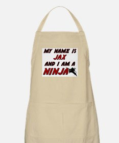my name is jax and i am a ninja BBQ Apron