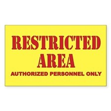 Restricted Area Decal