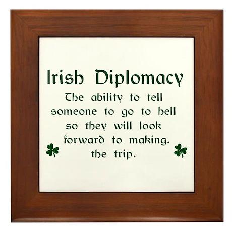 Irish Diplomacy Framed Tile