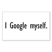 I Google Myself Rectangle Decal