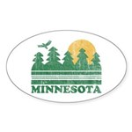 Minnesota Oval Sticker