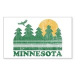 Minnesota Rectangle Sticker