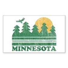 Minnesota Rectangle Decal