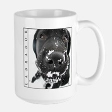 Snowy Black Lab Large Mug (Labrador)
