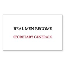 Real Men Become Secretary Generals Decal
