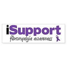 iSupport Fibromyalgia Bumper Bumper Sticker