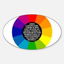 John Calvin-Color Oval Decal