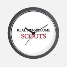 Real Men Become Scouts Wall Clock