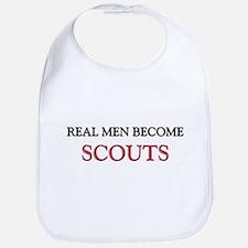 Real Men Become Scouts Bib