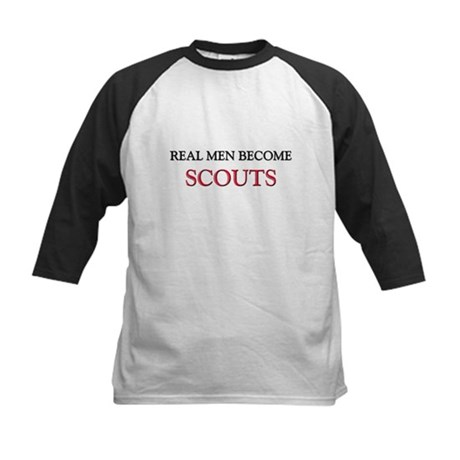 Real Men Become Scouts Kids Baseball Jersey