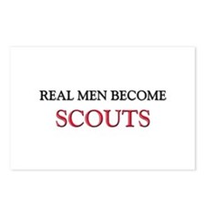 Real Men Become Scouts Postcards (Package of 8)