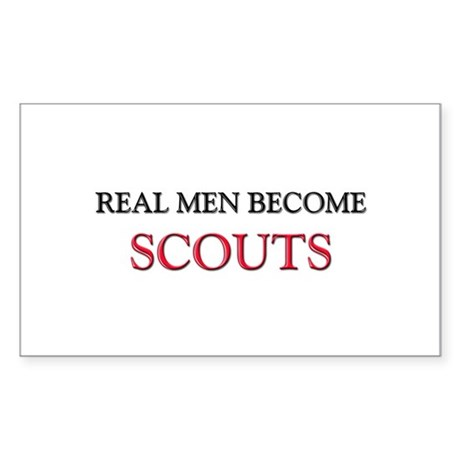 Real Men Become Scouts Rectangle Sticker