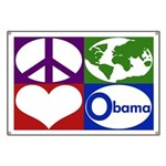 Peace, Earth, Heart Obama Banner