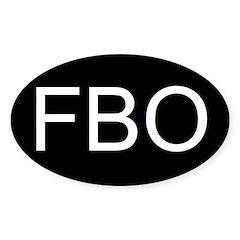 FBO Oval Decal